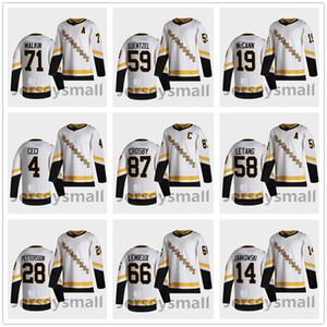 Pittsburgh Penguins Sidney Crosby 2021 Обратный ретро Джерси Крис Латанг Джейк Гунцель Макканн Малкин Patric Hornqvist Rust Kapanen Pettersson