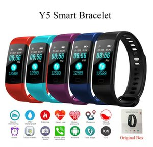 Y5 Bluetooth Smart Bracelet Smart band Color Screen Heart Rate Monitor Blood Pressure Measurement Fitness Tracker Smart Watch Adult