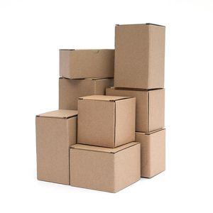 10pcs   kraft paper box rectangular black pink gift box 3-layer corrugated paper packaging small custom size printing logo