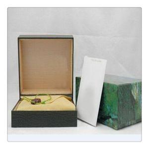 Fornecedor de fábrica verde luxo com caixa original caixa de relógio de madeira papéis cartão carteira boxescases relógio relógio de pulso rolexs
