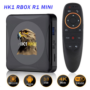 Android 10.0 Smart TV Box HK1 RBOX R1 MINI ROCKCHIP RK3318 Quad Core Set Top Box 2.4G 5G Dual Band WiFi Bluetooth 4.0 Android10 TVBox