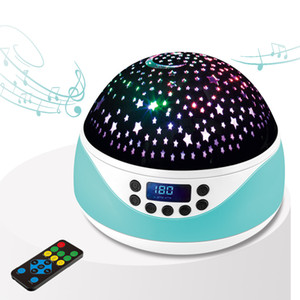 Music Projector Star Night Light USB Chargeable Universe Starry Sky Rotate LED Lamp Colorful Flashing Star Kids Baby Gift