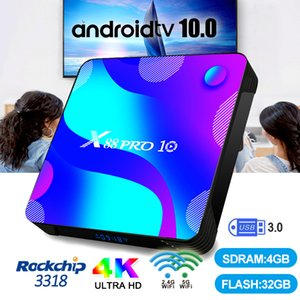 X88 PRO 10 Android 10.0 Smart TV Box RK3318 Quad Core 4K Media Player Dual WiFi Set Top Box X88 PRO10