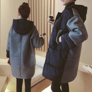 Nouveau manteau de maternité d'hiver Vestes de maternité coréenne Matteaux de maternité en coton-rembourré Patchwork Outwear pour femmes enceintes J1208