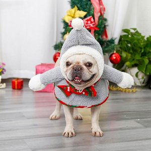 Pet Dogs Hat Cats Christmas Costumes New Year Clothing Pet Supplies Autumn And Winter Warm Puppy Christmas Fur Ball Snowman Soft