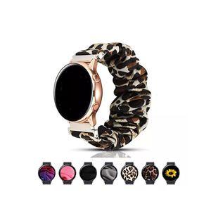 Scrunchie Watch Band Samsung Galaxy İzle için 42mm 46mm Sevimli Elastik Kordonlu Saati Değiştirme Galaxy Aktif / Aktif 2 için Uyumlu