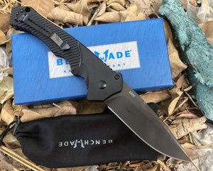 wholesaler Benchmade Browning9600BK Flipper Titanium Pocket Folding Knife 440C 57HRC Tactical Camping gear Hunting Survival Knives EDC tool