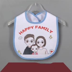 Sublimación en blanco BIB BIB DIY Transferencia térmica Bebé Baby Burp Paños Impermeable Babero Producto 5 colores YHM716