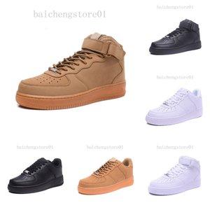 Sıcak Deri AF1 2020 Cork Dunk Yeni Klasik 1 Beyaz Siyah Düşük Yüksek Kesim Erkek Kadın Sneakers Paten Ayakkabı Bir Koşu Ayakkabı Boyutu 36-46 BN52V