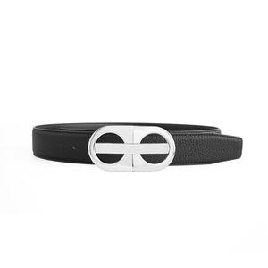 Cinturón de mujer para hombre Cinturones de hebilla lisa ocasional 14 Estilo Ancho opcional 3.8cm de alta calidad con caja
