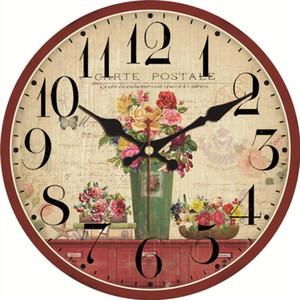 Wanduhren Shabby Chic, Rose Uhren, Vintage Uhr, Wanduhren Wohnkultur, Blumenuhr Nicht Ticking