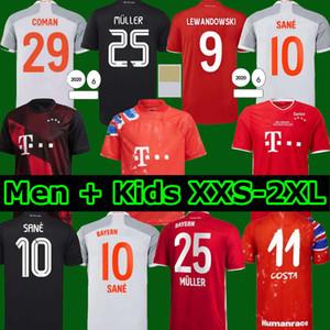 Bayern 20 21 Lewandowski Sane Jersey Jersey Coman Munique Muller Davies Camisa de Futebol Homens Kit Kids Munchen 2020 2021 HumanRace Quarto 4º