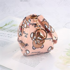 DHL Coin purse girl heart Korea ins cute bear small school bag key chain small bag coin purse