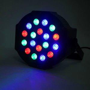 Yeni Tasarım 30 W 18-RGB LED Hareketli Kafa Işık Oto / Ses Kontrolü DMX512 Yüksek Parlaklık Mini Sahne Lambası (AC 110-240 V) Siyah Dim