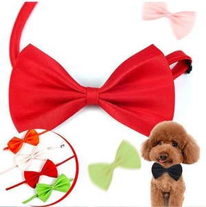Supplies Adjustable Dog Neck Puppy Bright Pure Bows Pet Accessory Necklace Adorable Grooming Tie Necks DHD123