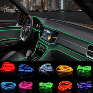 For W201 A Class GLA W176 CLK W209 W202 W220 W204 W203 W210 W211 W222 X204 2m Car Interior LED Cold light Sticker1