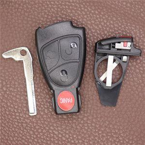 교체 2 3 4 버튼 스마트 키 케이스 FOB 케이스 셸 배터리 홀더 클립 메르세데스 벤츠 자동차 키 쉘