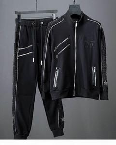 Floyd Mayweather y McGregor 50-0 Juego de chaquetas conmemorativas de Rhinestone Logo Men's Hoodie Sudadera Sudaderas Trajes de marca