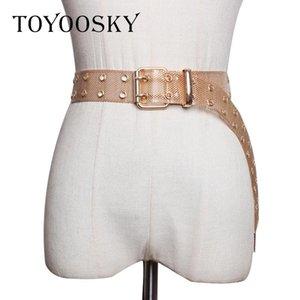 2020 Fashion Metal Women Waist Belt Simple Gold Wedding Belt with Hole Silver For Dress High Quality Ceinture Femme TOYOOSKY