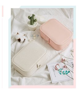 Women jewelry storage box Double layer customize waterproof for earrings and rings small jewelry stuffs box cheap