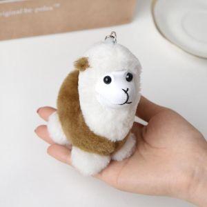 Cute Cartoon Alpaca Keychain Car Doll Toy Key Chain Plush Alpaca Pendant KeyRing Bag Pendant Jewelry Best Birthday GiftK 2344