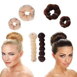Moda Maker Magic Bun Rápido Faça Estilo Ferramentas Mulheres DIY Hairbands Girl Hair Bands Acessórios para viagem