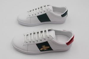 Moda mujer hombre zapatos encaje zapatos planos abeja tigre serpiente bordado señora sneake boy chica zapato blanco casual zapatos