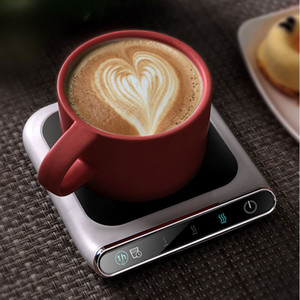5V Cup Heater Cup Warmer Smart Thermostatic Hot Tea Makers 3 Gear USB Charge Heating Coaster Warmer Pad for Coffee Milk Tea Y1201