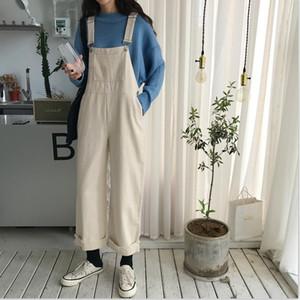 Herbst 2020 Neue koreanische stil retro lose schlanke net rot back gürtel jeans frauen geradlinig röhre breite bein mopping hosen