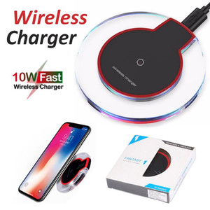 K9 luxury crystal 10W Wireless Charger For iPhone 12 11 Pro Xs Max X Xr Qi Fast Charging Pad For Samsung with box