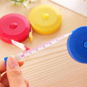 Cor sólida de medição de plástico de plástico de 1,5m faixa de origem macia fita fita de fita medir acessórios domésticos 0 6wb k2