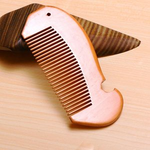 Delicate wood comb beard comb customized combs laser engraved wooden hair comb for women men grooming custom your LOGO LXL599-1