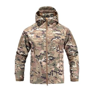 Men's tactical army clothing outdoor Softshell camouflage fishing jacket man waterproof hunting clothes