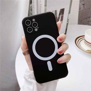 MAGSAFE-Hülle für iPhone 12 Pro Max Luxus starker Magnet-flüssiger Silikon-Rückenabdeckung für iPhone 11 12 PRO MAX COQUE mit Lanyard 7 Farben