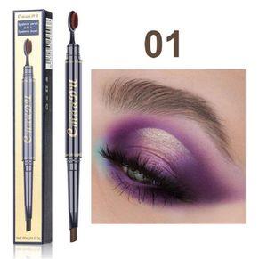 HOT MAKEUP Double Eyebrow Pencil BROW PENCIL CRAYON EBONY SOFT BROWN DARK BROWN MEDIUM BROWN CHOCOLATE eyebrow enhances