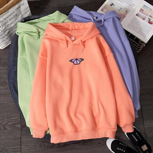 2020 Purple Butterfly Hoodies Winter Women Top Casual Harajuku Retro Sweatshirt for Girls Korean Style Womens Sudadera Mujer