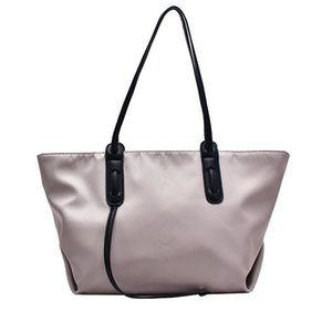 2020 new trendy fashion women's simple and versatile capacity one-shoulder tote soft leather portable large bag Q1127