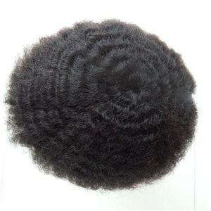 Ultra Thin Skin Men Toupee V-loop 8x10 Human Hair Toupees Thickness 0.02-0.04mm NG Hair Wigs Man Toupee Pu Black Mens Toupee