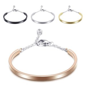 Fashion Gold Color Silver Color Stainless Steel Crystal Bangels Bracelets for women Chains Bracelets