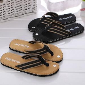 2020 Fashion Men Summer Slippers Flip Indoor Outdoor Flip Flops Shoes New Summer Beach Shoes Sandals zapatos hombre FN55 Q0112