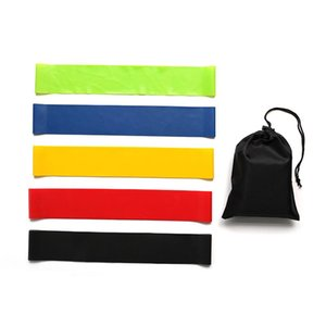 High 1 Set Fitness Resistance Bands Latex 5pcs Loop Set for Exercise Sports Fitness DOG88