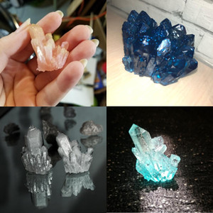 20 Styles Clear Ore Crystal Cluster Epoxy Resin Molds Various Shapes Spar For Resin Epoxy Casting Mold Silicone Jewelry Making sqcLXo