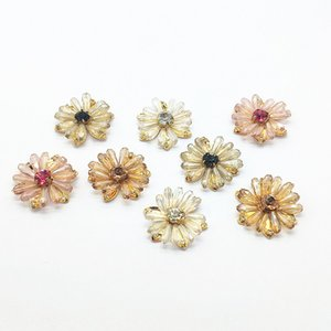 New arrival! 29mm 20pcs Copper Crystal Flat back Flower Shape Charm for Earrings Making DIY parts,Jewelry Finding & Component F1203