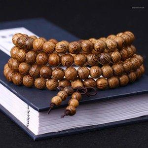 Recién 10PCS Beads Wenge Oración Pulsera Tibetano Buddés Mala Buda Rosario Brazalete de madera Joyería FIF661