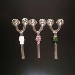 Skull Pipe Double Circle Oil Burner Smoker Pipes Supplies Glass Diy Transparent Woman Man Smoking Set Paraphernalia 3 5pw K2