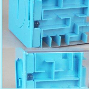 Puzzle 3D Maze, Piggy Bank Toy Kids Game Educational, 3D Magic Intellect Maze Puzzle, Labyrinth Ball Toys Y200413