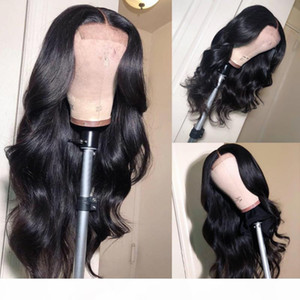 Silk Top Full Lace Wigs With Natural Hairline 4x4 Body Wave Virgin Brazilian Human Hair Silk Base Lace Front Wigs Glueless Bleached Knots