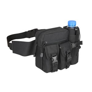 Tactical Waist Bag 800D Nylon Waterproof Multi-function Climbing Water Bottle Pouch Hunting Camping Cycling Trakking