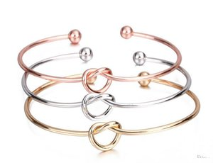 Personalized knot bangle bracelet tie bangle for women girls Europe and the United States jewelry simple wind bracelet cheap wholesale