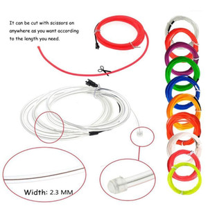 EL Wire Kit Portable Neon Lights for Parties Halloween Blacklight RunRope Tube Waterproof EL Wire LED Strip 3m1